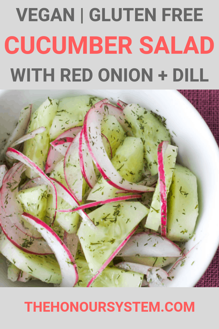 Cucumber Salad with Red Onion + Dill Recipe