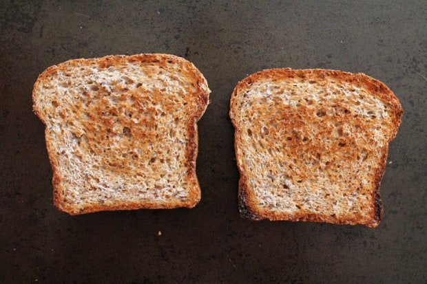 2 pieces of toasted bread