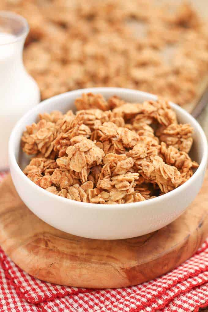 Healthy and Easy Five Ingredient Homemade Granola