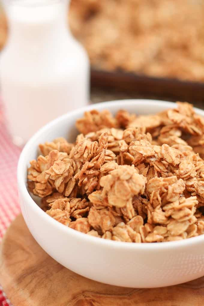 Easy and Healthy Five Ingredient Granola