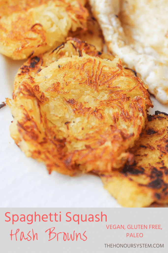 Pinterest graphic of Spaghetti Squash Hash Browns