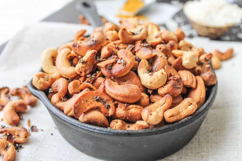 Coconut Curry Roasted Cashews-7