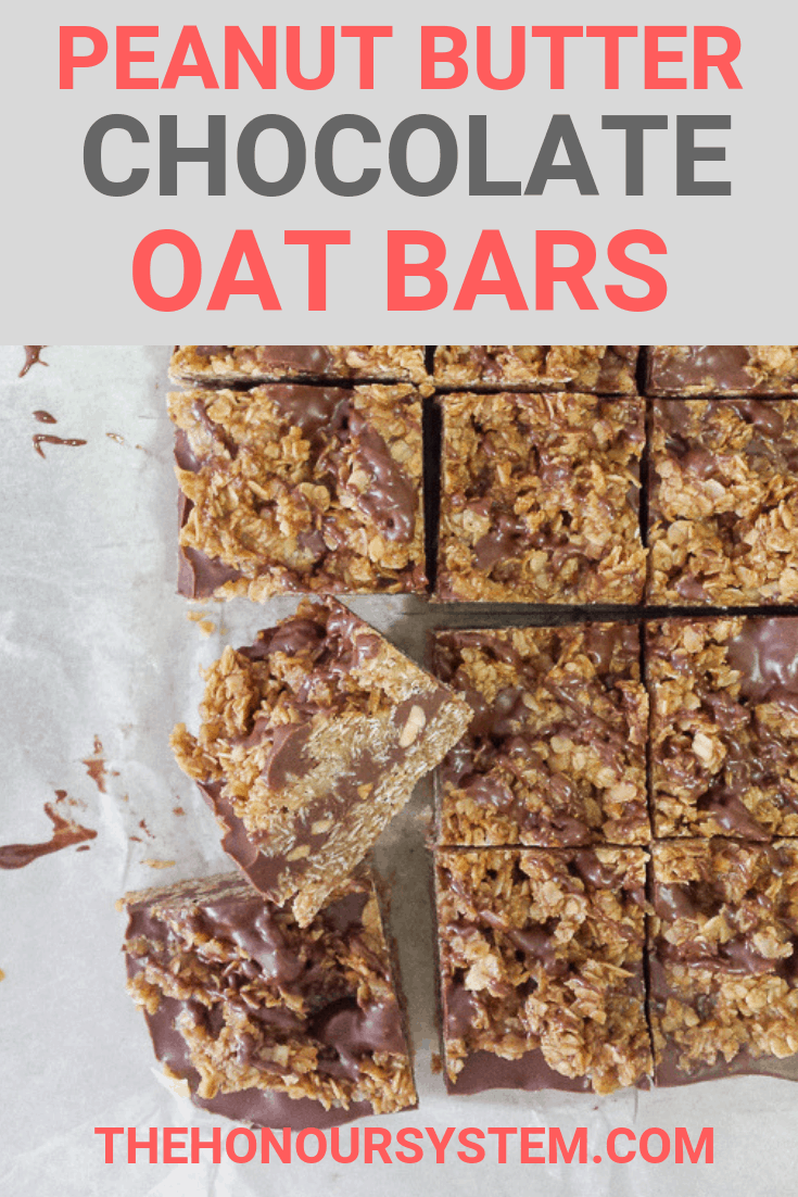 No Bake Peanut Butter Oat Bars Pinterest Graphic