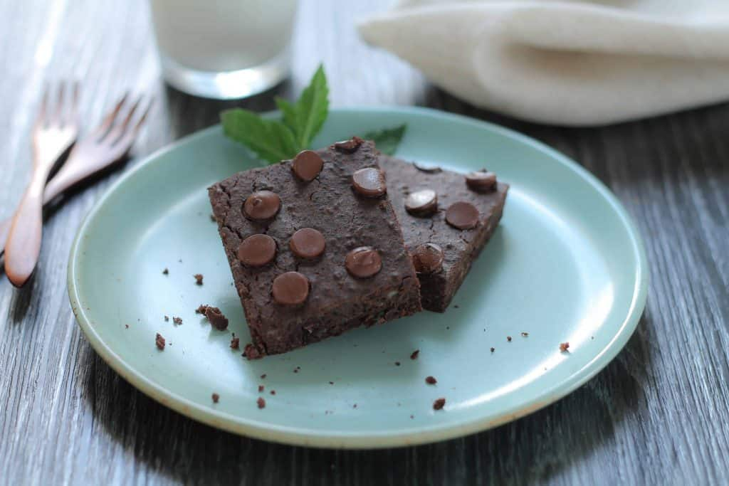 Chocolate Mint Chip Black Bean Brownies - Gluten Free