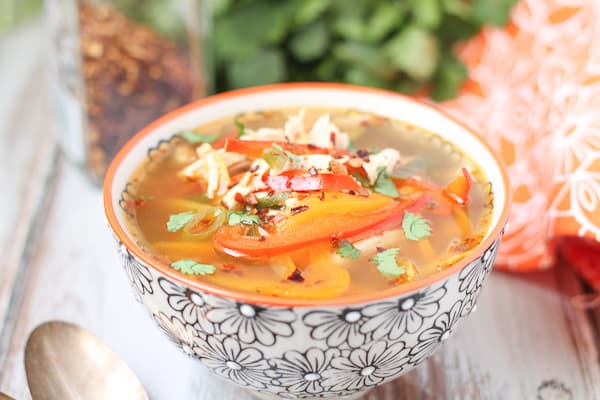 Chicken Soup with Peppers Gluten Free Recipe
