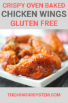 Crispy Oven Baked Chicken Wings Recipe Pinterest Graphic