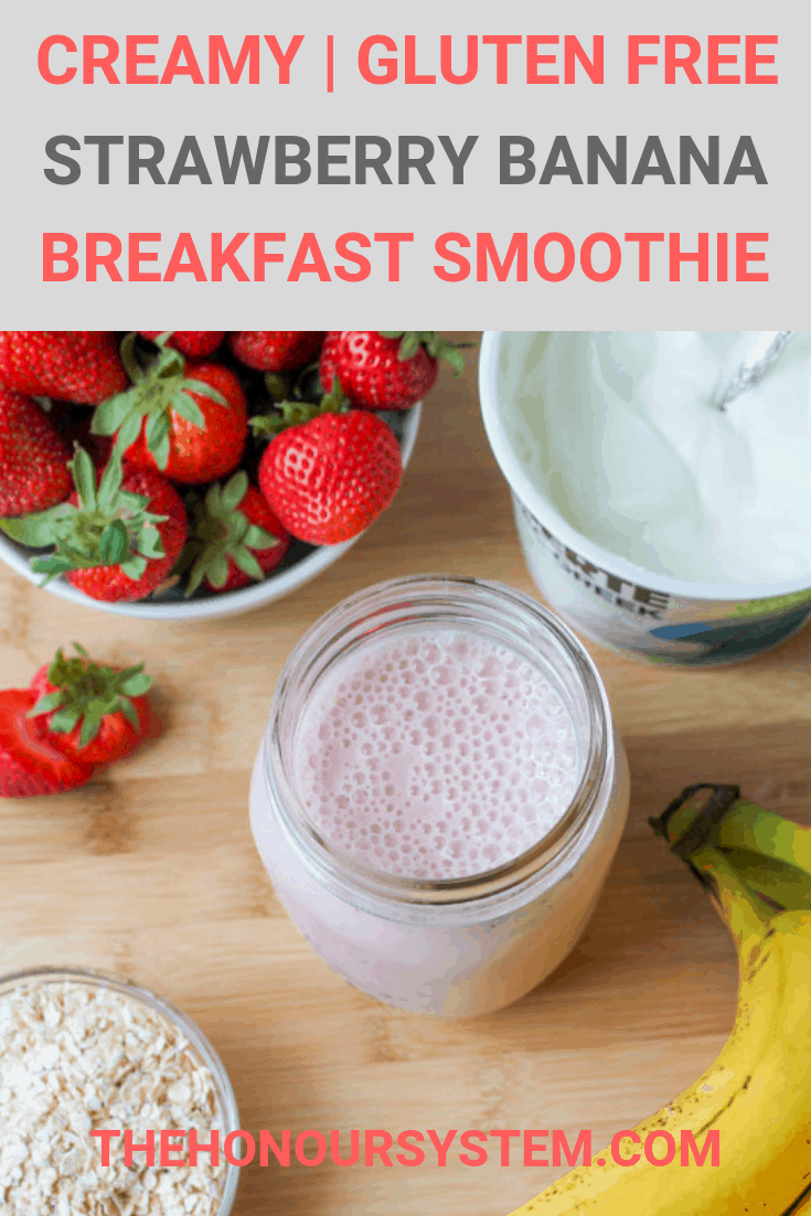 Strawberry Banana Breakfast Smoothie Gluten Free Recipe