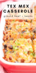tex mex casserole pinterest graphic