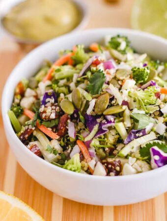 a bowl of crunchy chopped detox salad