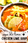 a pinterest graphic of sopa de lima