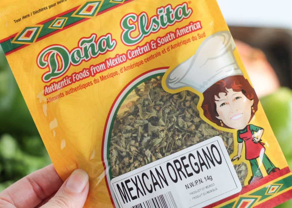 a package of Mexican oregano.